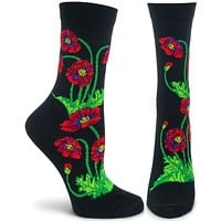 Florals Poppies Sock