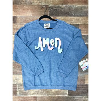 Jadelynn Brooke: Amen Corded Fleece {Blue Jean}