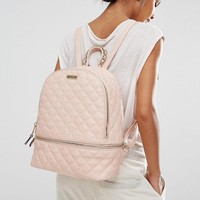 ALDO | ALDO Quilted Backpack in Blush at ASOS