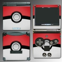 Pokemon Pokeball Pikachu Black and White 2 Cartoon Movie Toy Video Game Vinyl Decal Cover Skin Protector for Nintendo GBA SP Gameboy Advance Game Boy