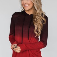 Red Ombre Hoodie