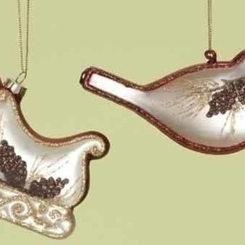 6 Christmas Ornaments - Birches Collection