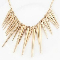 Exaggerate Gold Plated Spike Necklace from Hester
