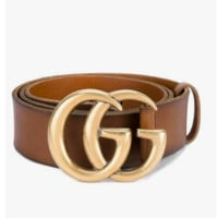 GUCCI classic double G buckle head wild fashion smooth buckle pants belt
