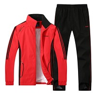 New Men's Set Spring Autumn Men Sportswear 2 Piece Set Sporting Suit Jacket+Pant Sweatsuit Male Clothing Tracksuit Set