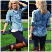River Banks Dark Denim Top