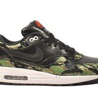 "Nike Mens Atmos Air Max 1 PRM ""Tiger Camo"" Synthetic Athletic Sneakers"