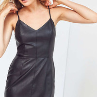 Silence + Noise Faux Leather Mini Dress   Urban Outfitters