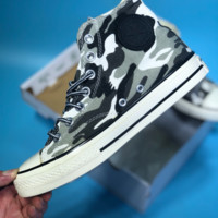 DCCK2 Converse Hight Canvas Skates Shoes Camouflage Grey