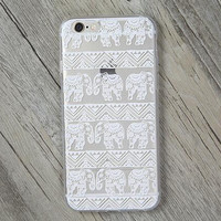 Lace Elephant Cover Case for iPhone 7 7plus & iPhone se 5s & iPhone6 6s Plus+ Gift Box