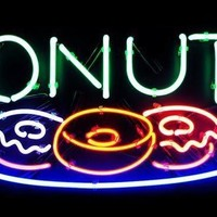 Donuts Neon Sign Real Neon Light