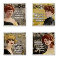 Sassy Lassies - SET OF 4 COASTERS