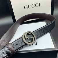 Gucci double g belt of the same type for men and women Width / 3.5