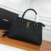 YSL SAINT LAURENT WOMEN'S LEATHER HANDBAG INCLINED SHOULDER BAG