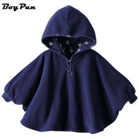 2016 Fashion Combi Baby Coats boys Girl's Smocks Outwear Fleece cloak Jumpers mantle Children's clothing Poncho Cape