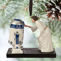 disney store sketchbook star wars princess leia R2-D2 ornament new with tags