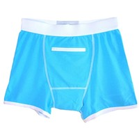 Blue Speakeasy Briefs : Stash Boxers with a Flask