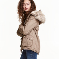 Pile-lined Parka - from H&M