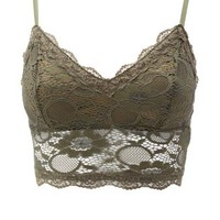 Long Line Lace Bralette by Charlotte Russe