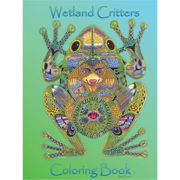 EarthArt Wetland Critters Adult Coloring Book