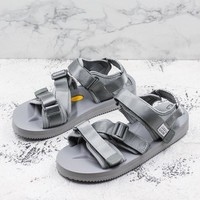 Suicoke Gray KISEE-V Vibram Sole Antibacterial Upper Slipper Slider Sandals - Best Deal Online
