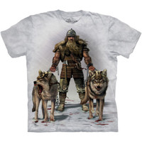 VIKING HUNT The Mountain Wolf Wolves Scandinavia Norse Hunter  T-Shirt S-3XL NEW