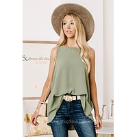 The Story Will Change Sleeveless Tank Top   Sage