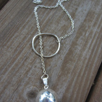 Harmony Ball Necklace, Silver Hoop Necklace, Bola Necklace, Pregnancy Necklace