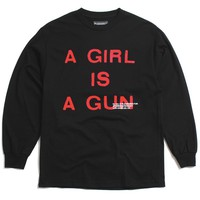 Girl Is A Gun Longsleeve T-Shirt Black