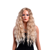 Light Blonde Long Curly Ombre Wig