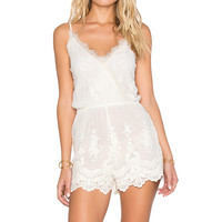 Band of Gypsies Lace Romper in Ivory