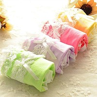 Women Sexy Cotton Briefs Cute Lovely Panties Bow Culottes Underwear Ladies Underpants Calcinha 14 Colors