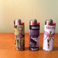 Nirvana Album Cover Bic Lighter