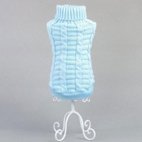 Factory Price Large Cute Small Pet Dog Knitwear Outdoor Warm Puppy Coats Sweater Clothes Jumper