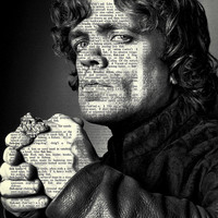 "Tyrion - Game of Thrones Series - 8x11"" Print on Vintage repurposed paper - Dictionary Art Print"