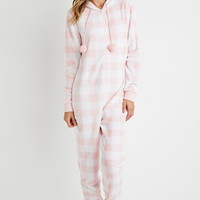 Plush Plaid PJ Jumpsuit