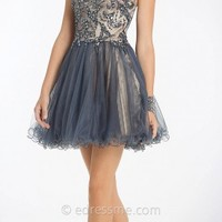 Halter bodice short dresses by Dave and Johnny