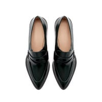LEATHER POINTED MOCCASIN - Shoes - Woman | ZARA United Kingdom