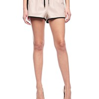 Perforated Faux Leather Short by Juicy Couture
