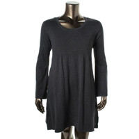 Style & Co. Womens Knit Ribbed Trim Sweaterdress
