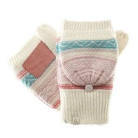 Isotoner Glimmer Marled Cable-Knit Gloves