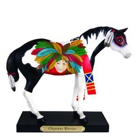 The Trail of Painted Ponies Cheyenne Warrior Pony Horse Figurine