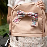 Cute Bowknot Lace Backpack from alanchen