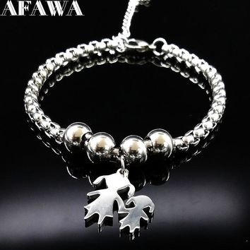 2018 Mother and Daughter Stainless Steel Bracelet for Women Stainless Steel Mother Bracelet Jewelry pulseira feminina BB1101A