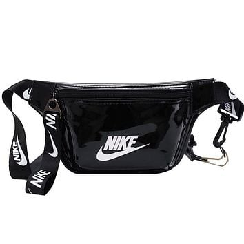 NIKE casual fashion men and women sports chest bag Messenger bag Black
