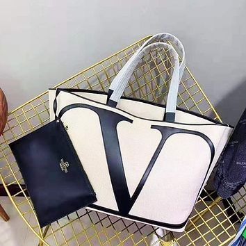 Valentino sells two-piece shopping bag with a canvas shoulder bag for casual ladies