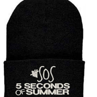 5 SECONDS OF SUMMER Beanie 5sos Knit Hat Ashton Irvin Music New Style
