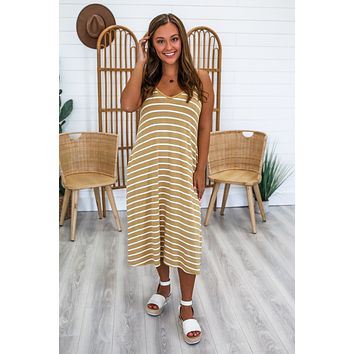 Without Me Midi Dress - Mustard