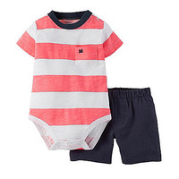 Carter's® Baby Boys' 2-Piece Bodysuit & Shorts Set at www.bostonstore.com