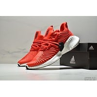 Adidas Alphabounce cushioning sports men's running shoes Red
